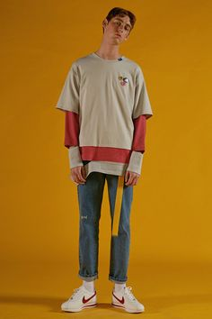 ADER error SS16 Collection 'A PLAN' lookbook image Contemporary Minimal Color Graphic Slogan 'But near missed things' www.adererror.com