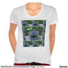 Chef Kitchen Cuisine Blueberries  Veggie Recipe T-shirt