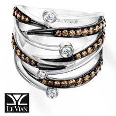 LeVian Chocolate Diamonds® 3/4 ct tw Ring 14K Vanilla Gold®