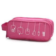 Women Graffiti Toiletry Bag Cosmetic Bag Travel Must-have High-end Digital Usb Cable Storage Bag