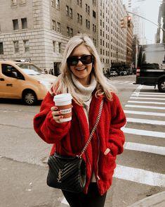 winter outfits london Danielle Carolan on Instagra - winteroutfits Red Teddy Bear, Teddy Bear Jacket, Plaid Outfits, Fall Outfits, Cute Outfits, Red Sweater Outfit, Beautiful Outfits, Casual Outfits, Danielle Carolan