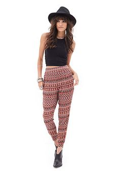 Tribal Print Pleated Joggers   FOREVER21 - 2000059763
