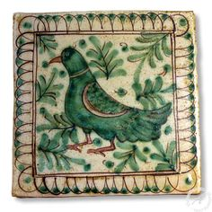 "Sicilian Tile ""Bird"" 2, Handmade Italian Tile – thatsArte.com"