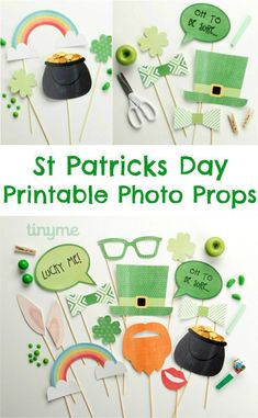St Patricks Day Printable Photo Booth Props (scheduled via http://www.tailwindapp.com?utm_source=pinterest&utm_medium=twpin&utm_content=post1438057&utm_campaign=scheduler_attribution)