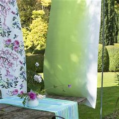 Our beloved Padua shaded ombre is re-imagined for outdoor use digitally printed onto a robust exterior use canvas. Wallpaper Decor, Fabric Wallpaper, Ombre Look, Designers Guild, Grass Decor, Mold And Mildew, Cobalt, Fabric Design, Room Decor