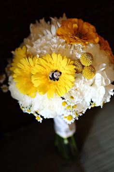 Yellow, white and orange bouquet