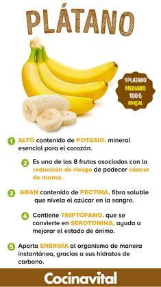 8 benefits of bananas, reasons to encourage you to consume it Healthy Menu, Healthy Tips, Healthy Recipes, Diet Recipes, Herbalife Nutrition, Health And Nutrition, Nutrition Guide, Orange County, Natural Detox Drinks