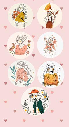 Cute Pastel Wallpaper, Anime Scenery Wallpaper, Cute Wallpaper Backgrounds, Cute Cartoon Wallpapers, Cute Little Drawings, Cute Drawings, Dibujos Cute, Cute Doodles, Journal Stickers