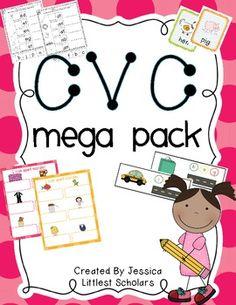 Short E CVC Words [Freebie!] - Littlest Scholars - TeachersPayTeachers.com