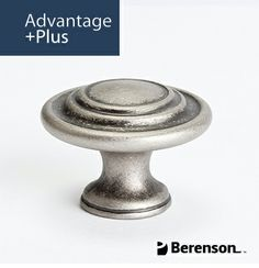 Berenson Advantage Plus 4 Cabinet Hardware: Item No 9366-10WN-P - Cabinet Knob in Weathered Nickel. Questions? Call 1.800.333.0578 or email info@berensonhardware.com