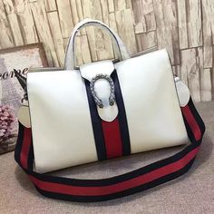 29a5cd1b6ef Dionysus Leather Top Handle Bag White 444167. Matina · Gucci ...