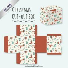 Cute christmas cut out box