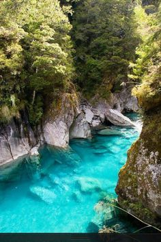 Blue Pools, New Zealand I could float all day.