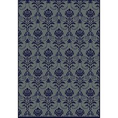 A unique abstract design highlights this machine-made olefin rug. This area rug is durable, easy to clean and features a navy blue background with accents of light blue. Navy Rug, Navy Blue Area Rug, Blue Area Rugs, Urban Interior Design, Contemporary Area Rugs, Contemporary Design, Navy Blue Background, Online Home Decor Stores, Rugs In Living Room