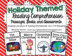 Practicing reading comprehension is a very important skill in the classroom. These holiday themed printable passages and printable books/readers ar. Reading Comprehension Passages, Reading Fluency, Reading Activities, Holiday Activities, Common Core Standards, 5th Grade Classroom, Classroom Ideas, School Classroom, Get Reading