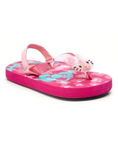 Another great find on #zulily! Hot Pink Leopard Hello Kitty Slingback Sandal - Toddler #zulilyfinds