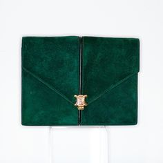 1970s Celine green suede bag