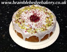 Persian Love Cake. This super moist almond cake is flavoured with rose, cardamom and lemon and decorated with rose leaves and pistachios. The legend goes that it was first made by a woman for a Persian prince using the exotic flavours as a love potion to make him fall in love with her. Got to be worth a try for Valentine's Day! Or even a wedding cake!