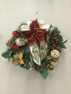 Beautiful wreath created by adults with intellectual and developmental disabilities.