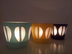 Cathrineholm lysglass, candlelight http://kreativrom.blogspot.com/2012/11/telyslykter-ala-cathrine-holm.html?m=1