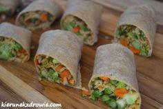 kierunek zdrowie: Wraps z brązowym ryżem i warzywami
