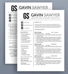 Resume Template  Cv Template  Modern Resume Design  Cover