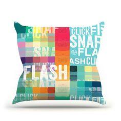 """KESS Original """"FLASH"""" Throw Pillow"""