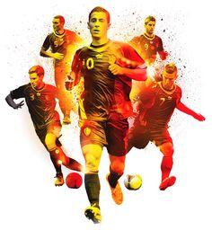 ESPN Magazine 'Belgium Rising' - NOPATTERN / Chuck Anderson: Art, design, & creative direction
