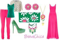 Miren Este Post Nuevo: Floreciendo  !!! http://bravechica.blogspot.com/2013/05/pink-green-blooms.html