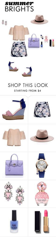 """""""Untitled #767"""" by rangellauren ❤ liked on Polyvore featuring Ally Fashion, Eugenia Kim, Vivienne Westwood, Erickson Beamon, Marc Jacobs, New Look, Chanel and summerbrights"""