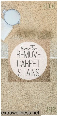 Here's how to make a natural dry carpet stain remover to freshen your rugs.. Tried it myself, worked on old stains and new! extrawellness.net/the-original-homemade-waterless-carpet-cleaner