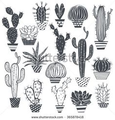Find Cactus Succulents Isolated On White Background stock images in HD and millions of other royalty-free stock photos, illustrations and vectors in the Shutterstock collection. Thousands of new, high-quality pictures added every day. Cactus Doodle, Cactus Art, Cactus Pics, Deco Tumblr, Kaktus Illustration, Kaktus Tattoo, Botanical Line Drawing, Cactus Drawing, Plant Background