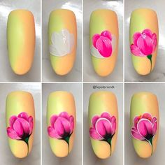 Choose from an Amazing Array of Nail Art Design Nail Art Fleur, Rose Nail Art, Floral Nail Art, Rose Nails, Flower Nails, Diy Nail Designs, Flower Nail Designs, Diy Nails, Swag Nails