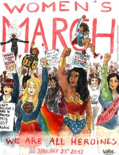 Thanks to all the heroines who marched today, and to those who couldn't walk but whose hearts were marching. You made History.