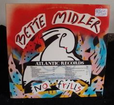 Bette Midler Lp No Frills (Promo Copy) Near Mint