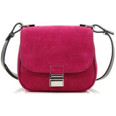 Proenza Schouler Tiny Kent Fuchsia Bag ($885) ❤ liked on Polyvore featuring bags, handbags, shoulder bags, proenza schouler, purple purse, clasp purse, proenza schouler purse and purple handbags