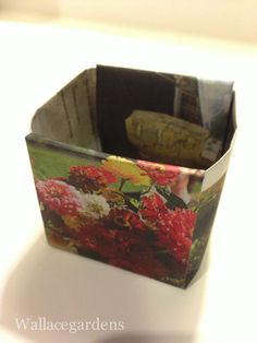 Origami Paper Seedling Pots From Newspaper | Hometalk