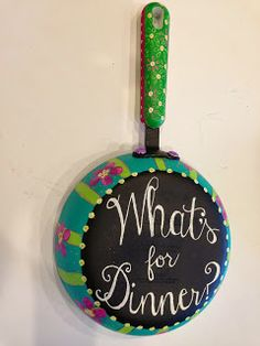 I posted a great tutorial on how to turn your old pans into little chalkboards for your kitchen! The Clothesline