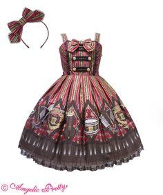 Lolita dress (jumper skirt) and bow headband