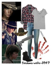 """DIY Halloween Costumes: Carl Grimes"" by fandoms-unite-3947 ❤ liked on Polyvore featuring мода, Duck Head Footwear, Rails, rag & bone и Yves Saint Laurent"
