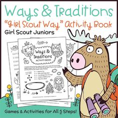 Juniors learn how to use Girl Scout ways and traditions to make the world a better place with this all-in-one activity book. Girls may complete the book independently, or work together in pairs or small groups. This printable paper activity book is designed to fulfill Junior
