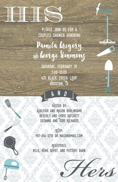 Celebrate the bride and groom with a couple's shower! Couples Shower Invitations, Couple Shower, Rsvp, Shower Party