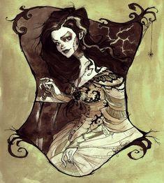 Bride of Frankenstein by *AbigailLarson on deviantART