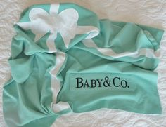Ya I really like this!Gift Box Baby Blanket in Egg Shell Blue/Green with Sweet by 6blue, $38.00