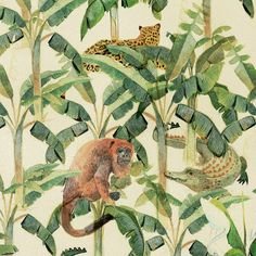 Part of an animal #pattern by Elizabeth Builes. Lovely style! #illustration