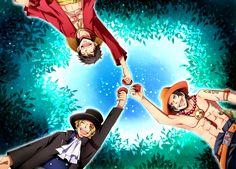 Luffy, Ace y Sabo. Estos tres hermanos siempre serán los mejores de la historia. (One Piece)
