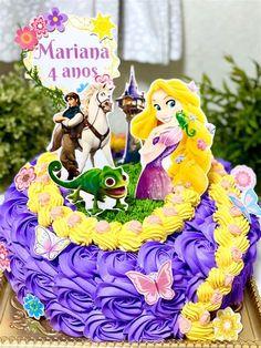 Bolo Rapunzel, Rapunzel Birthday Cake, Disney Rapunzel, Ben E Holly, Image Birthday Cake, Creative Cake Decorating, Tangled Party, Disney Cakes, Cute Desserts