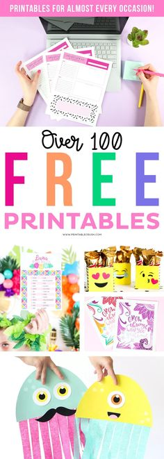 Free Printables for {almost} EVERY Occasion - Printable Crush Party Printables, Printable Planner, Free Printables, Easter Printables, Bullet Journal Printables, Heart Party, Freebies, Planner Organization, Printable Designs