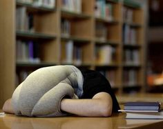 """An ostrich pillow that lets you hide your head in the """"sand."""" 