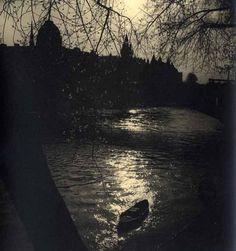 """Albert Monier / """"La nuit sur la Seine"""", ca. 1950s"""